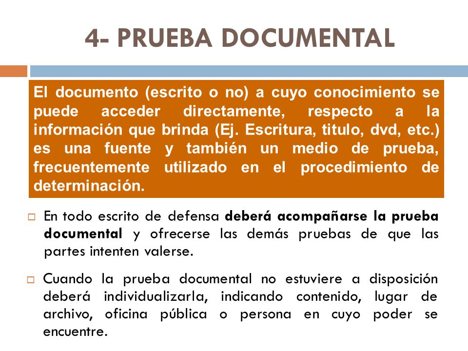 4- PRUEBA DOCUMENTAL