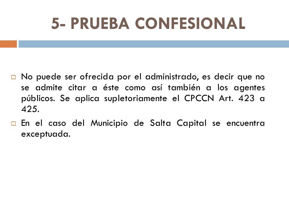 5- PRUEBA CONFESIONAL