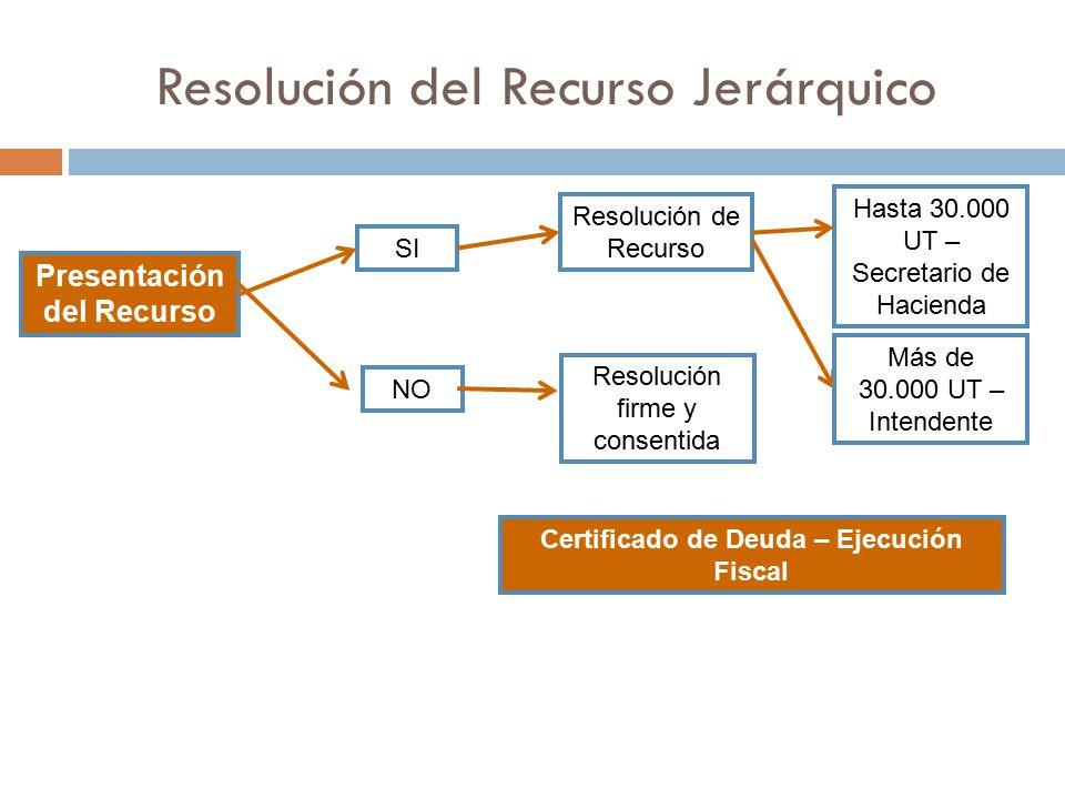 Resolución del Recurso Jerárquico