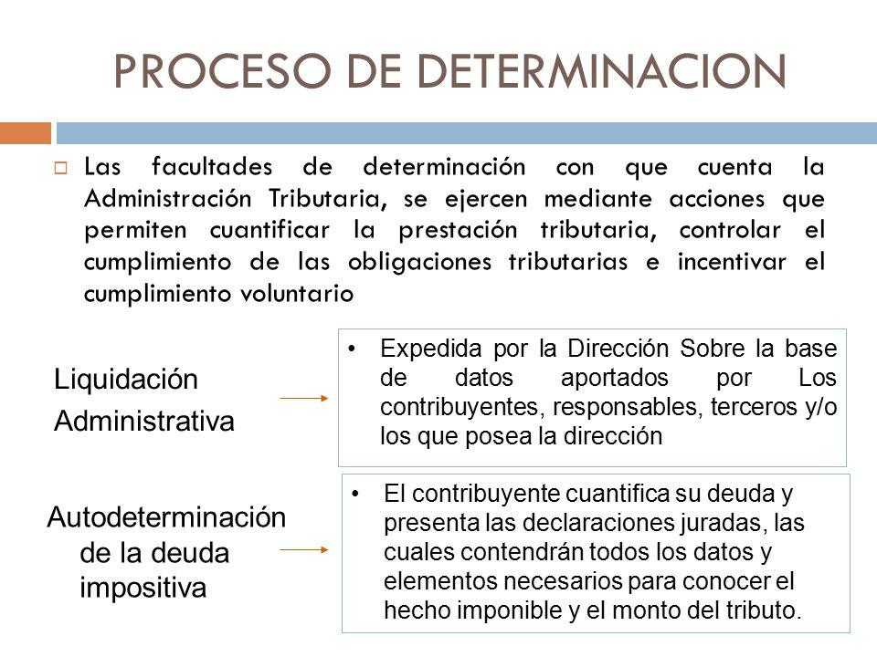 PROCESO DE DETERMINACION