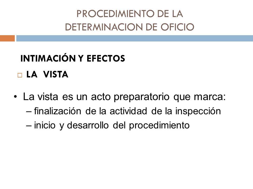 PROCEDIMIENTO DE LA DETERMINACION DE OFICIO