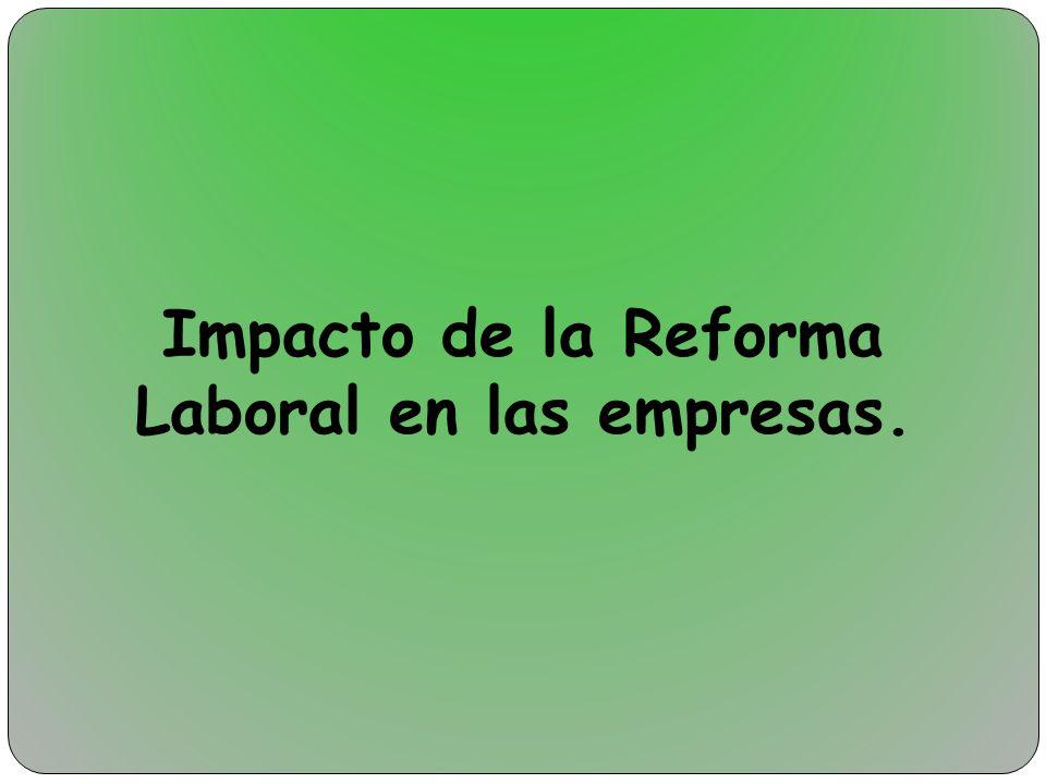 Impacto de la Reforma Laboral en las empresas.
