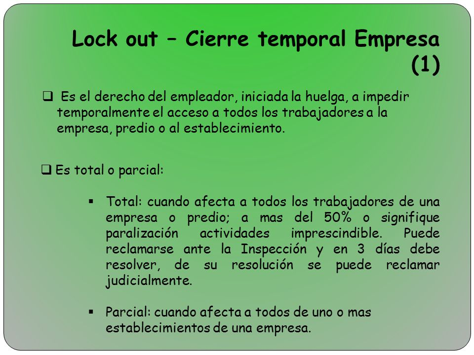Lock out – Cierre temporal Empresa (1)