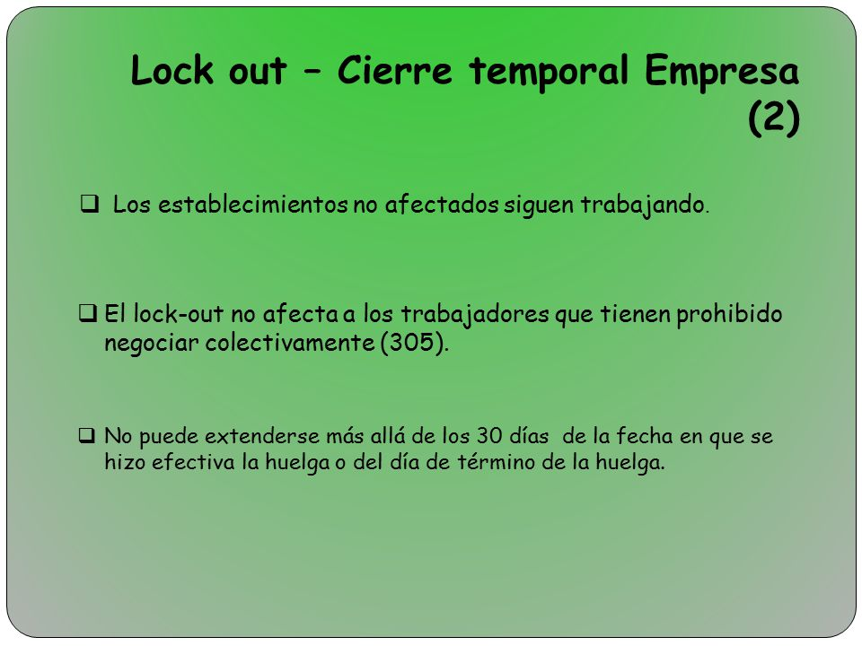 Lock out – Cierre temporal Empresa (2)