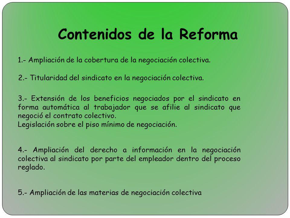 Contenidos de la Reforma
