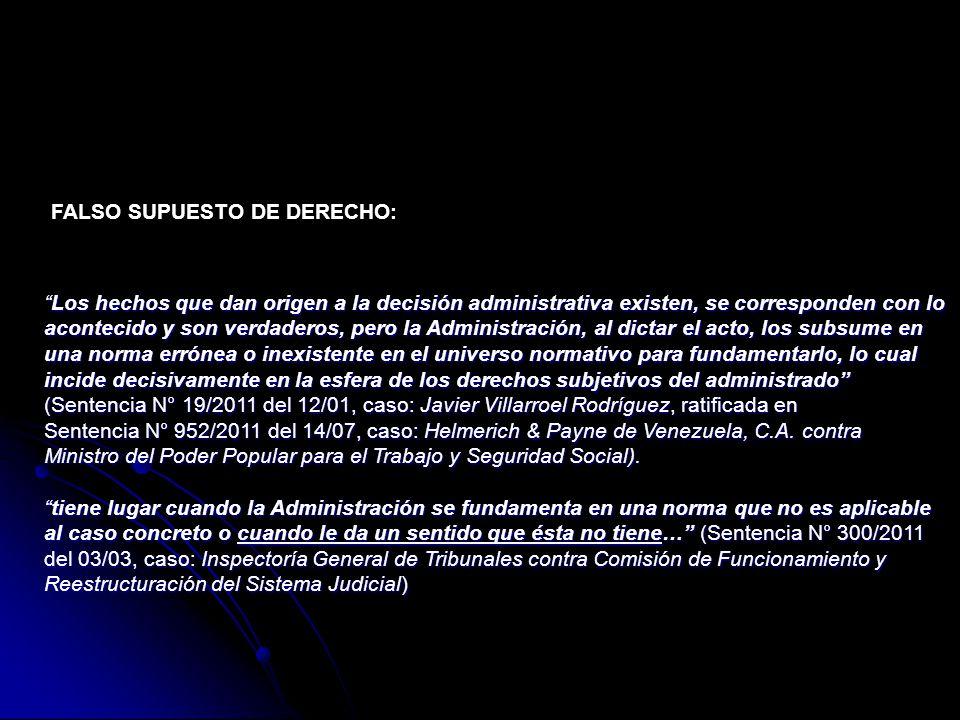 FALSO SUPUESTO DE DERECHO: