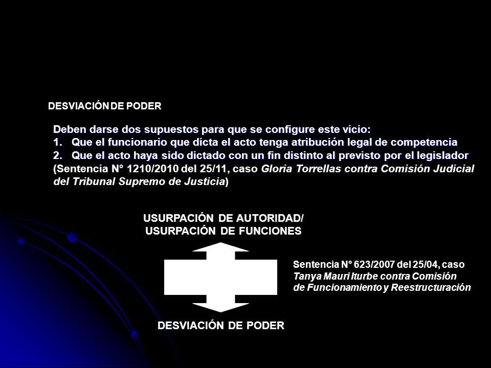 USURPACIÓN DE AUTORIDAD/ USURPACIÓN DE FUNCIONES