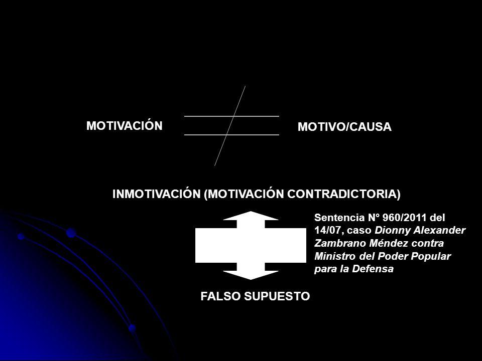 INMOTIVACIÓN (MOTIVACIÓN CONTRADICTORIA)