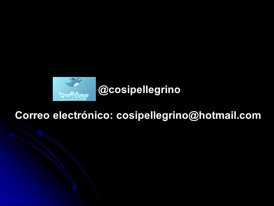 Correo electrónico: cosipellegrino@hotmail.com