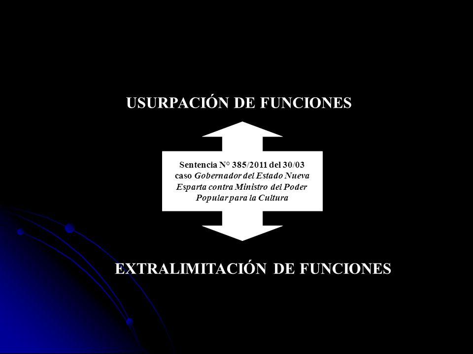 USURPACIÓN DE FUNCIONES