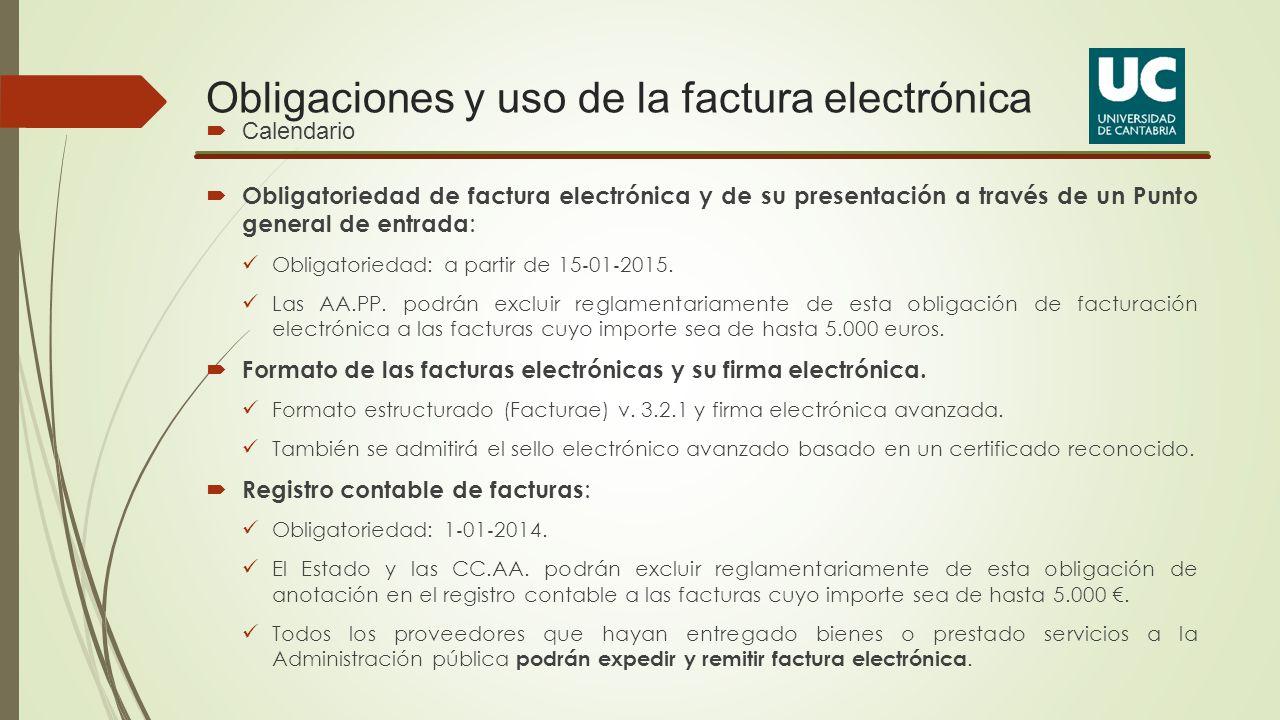 Obligaciones y uso de la factura electrónica
