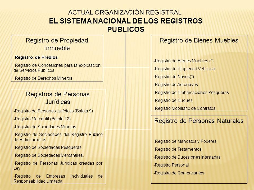 EL SISTEMA NACIONAL DE LOS REGISTROS PUBLICOS