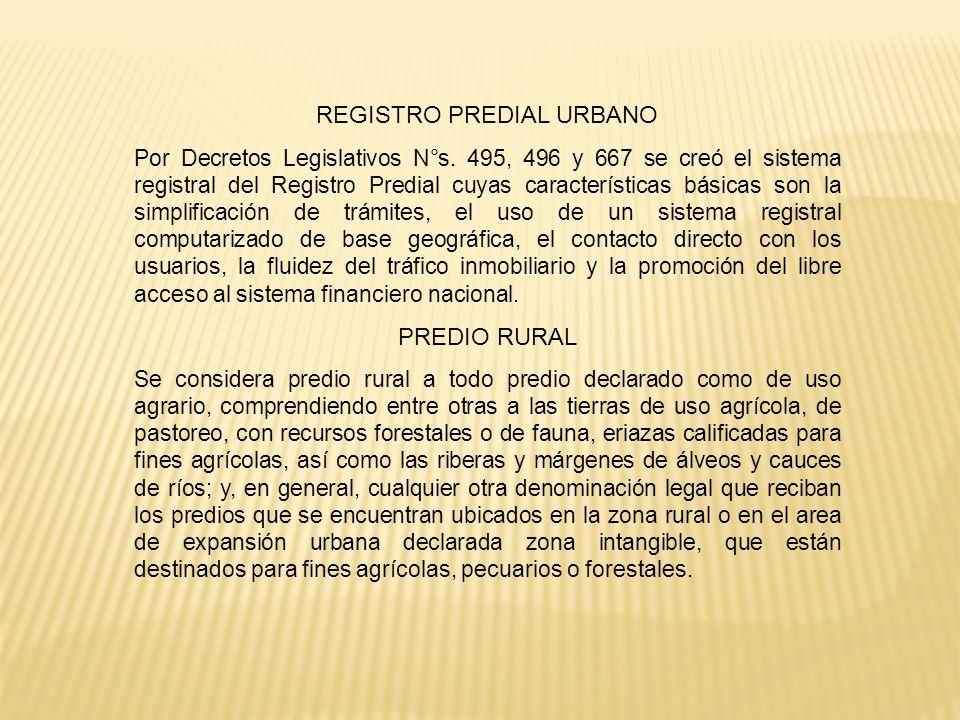 REGISTRO PREDIAL URBANO