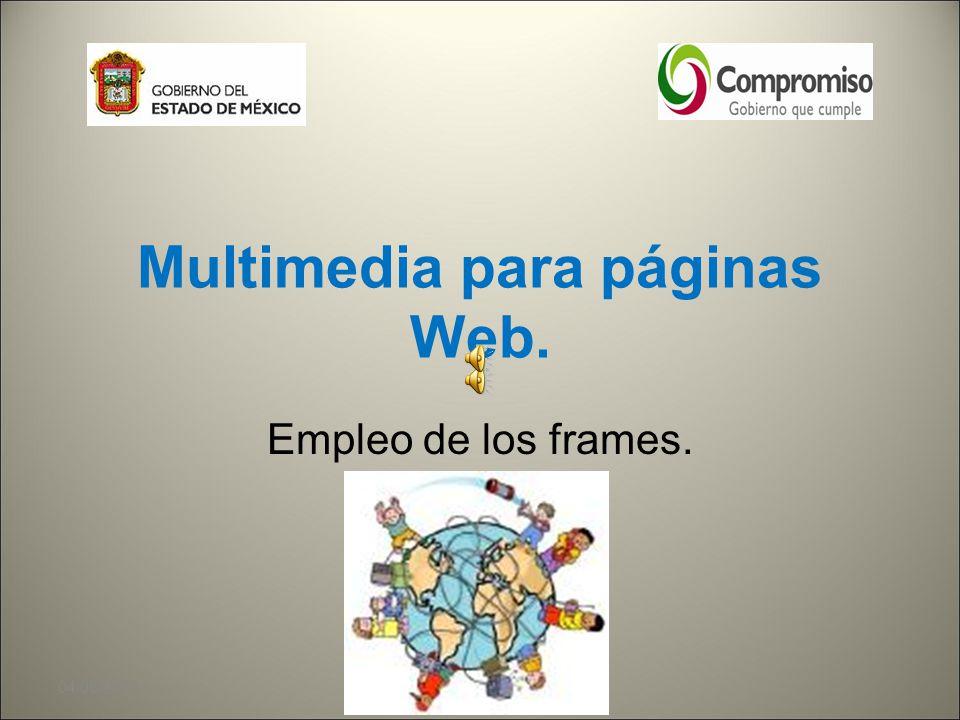 Multimedia para páginas Web.