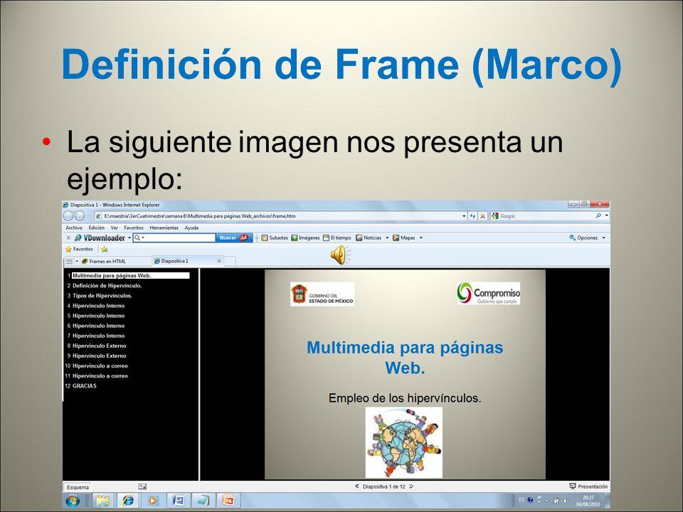 Definición de Frame (Marco)