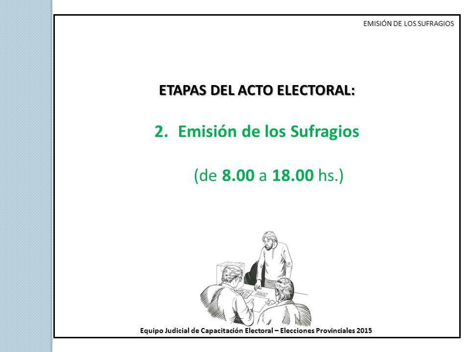 ETAPAS DEL ACTO ELECTORAL: