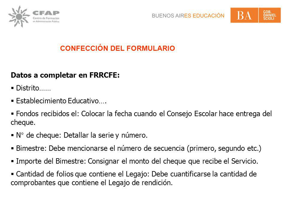 CONFECCIÓN DEL FORMULARIO