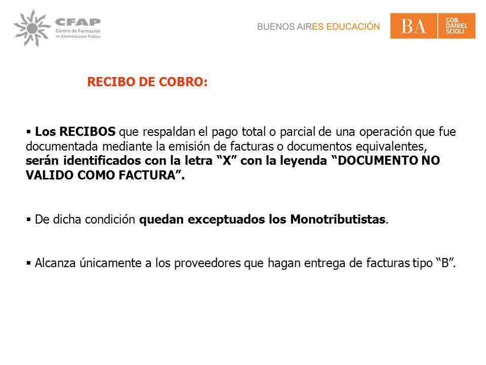 RECIBO DE COBRO: