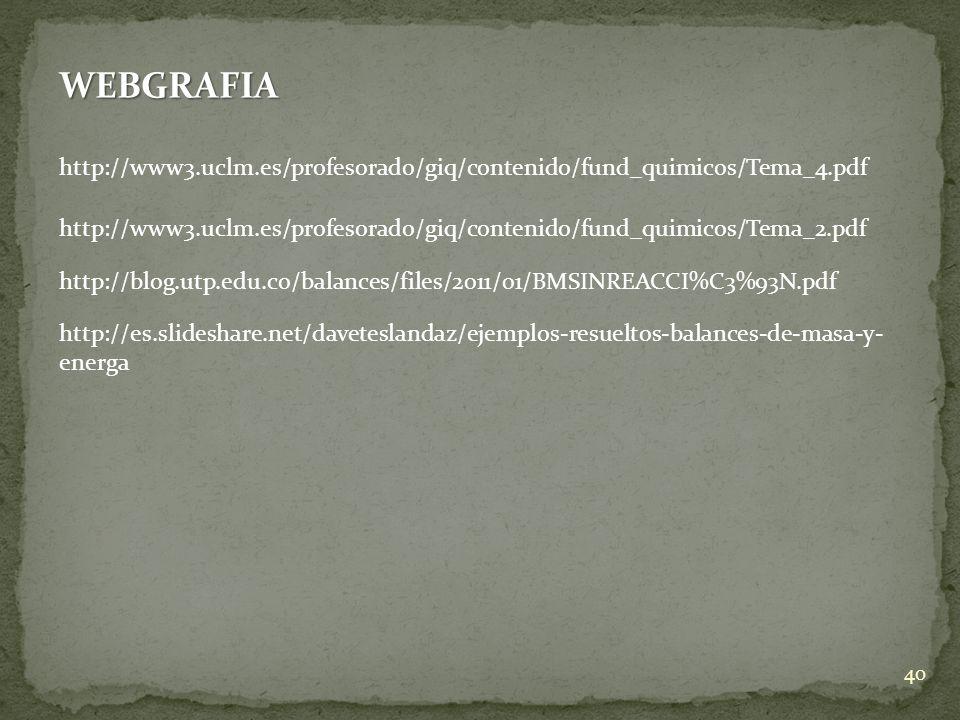 WEBGRAFIA http://www3.uclm.es/profesorado/giq/contenido/fund_quimicos/Tema_4.pdf.