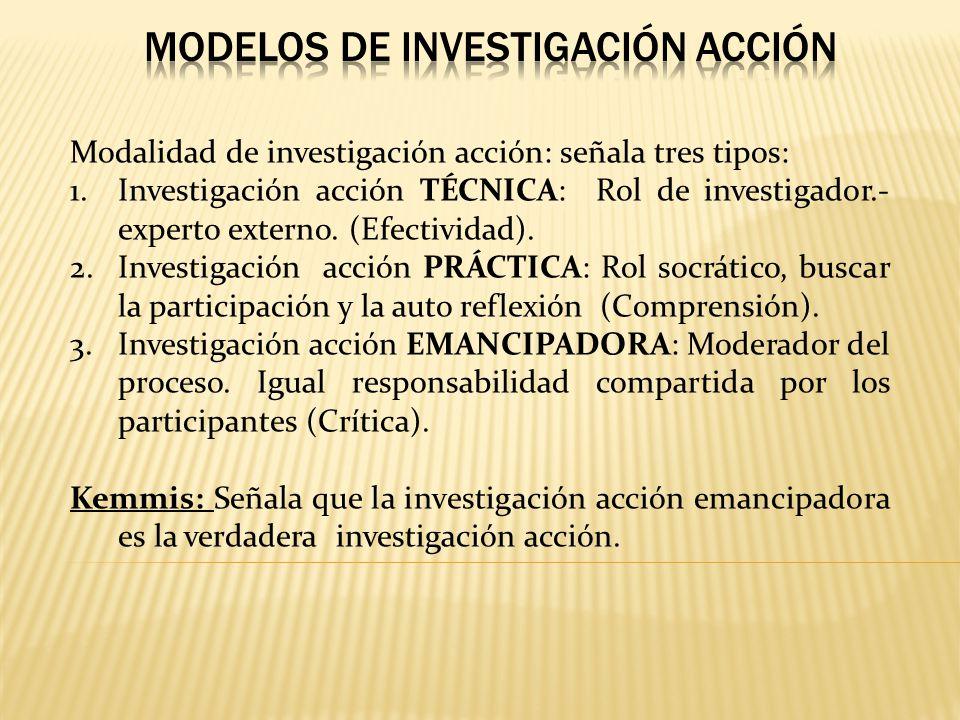 MODELOS DE INVESTIGACIÓN ACCIÓN