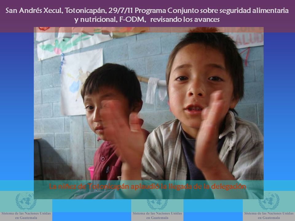 La niñez de Totonicapán aplaudió la llegada de la delegación