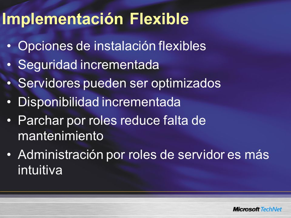 Implementación Flexible