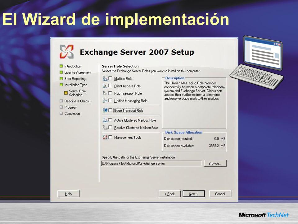 El Wizard de implementación