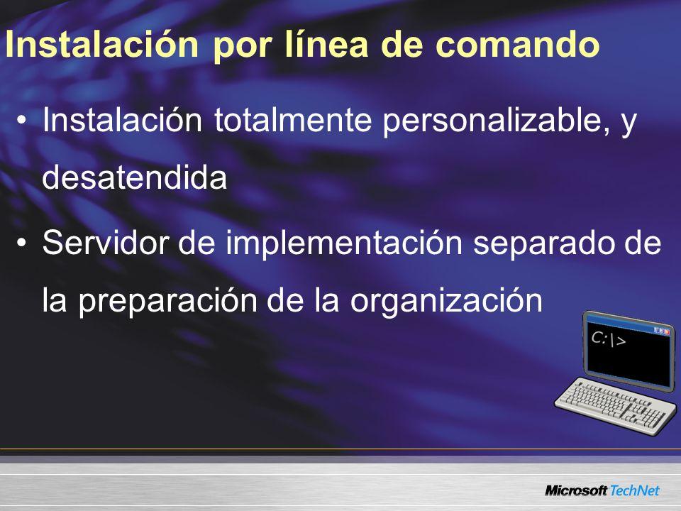 Instalación por línea de comando