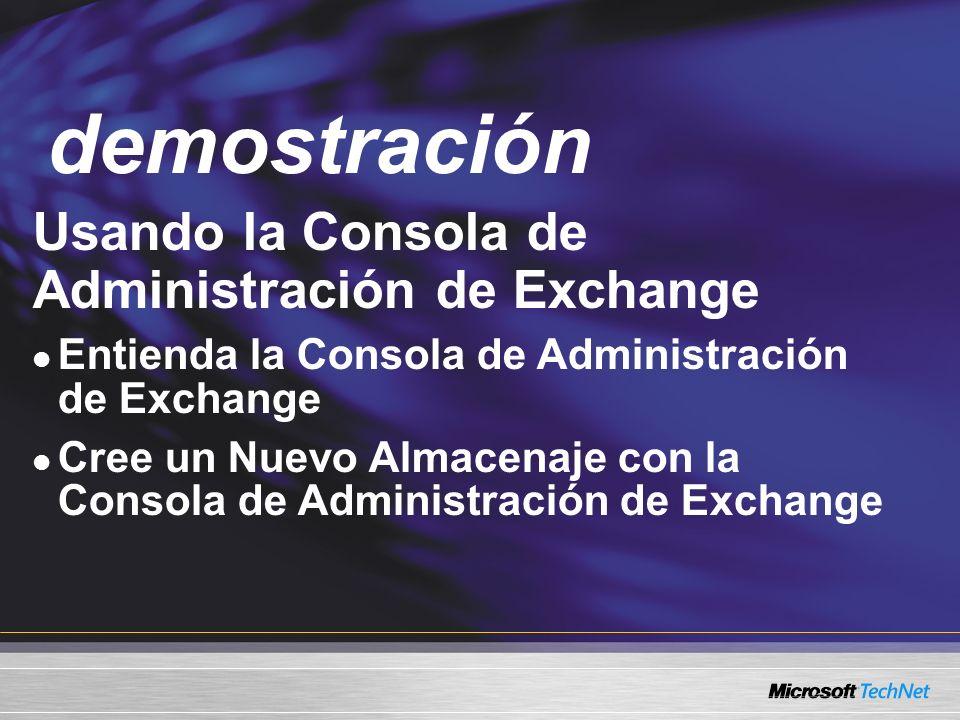 demostración Demo Usando la Consola de Administración de Exchange