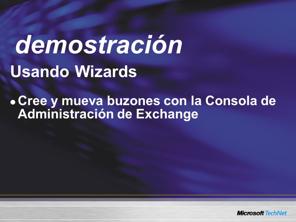 demostración Demo Usando Wizards