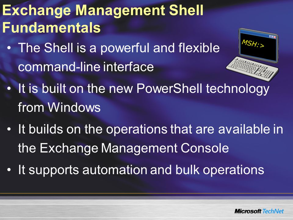 Exchange Management Shell Fundamentals