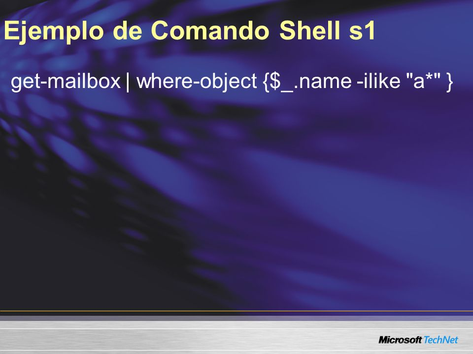 Ejemplo de Comando Shell s1