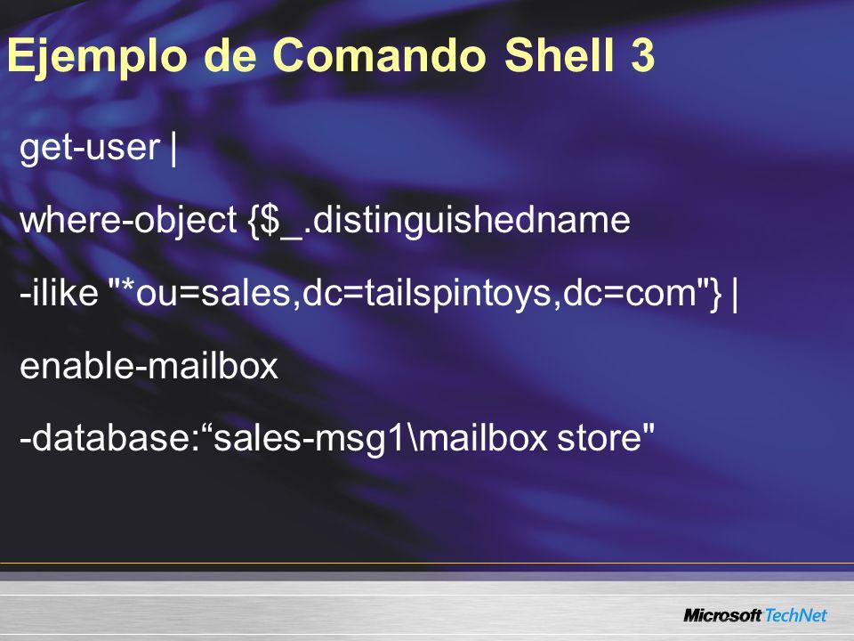 Ejemplo de Comando Shell 3