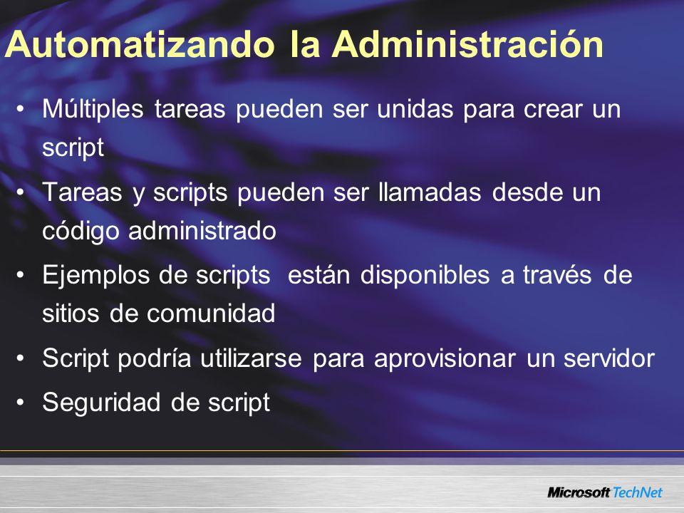 Automatizando la Administración