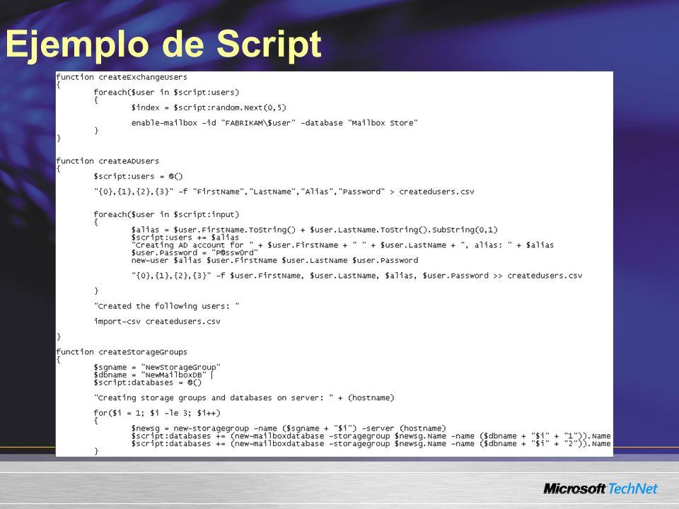 Ejemplo de Script Slide Title: Sample Script Keywords: Key Message: