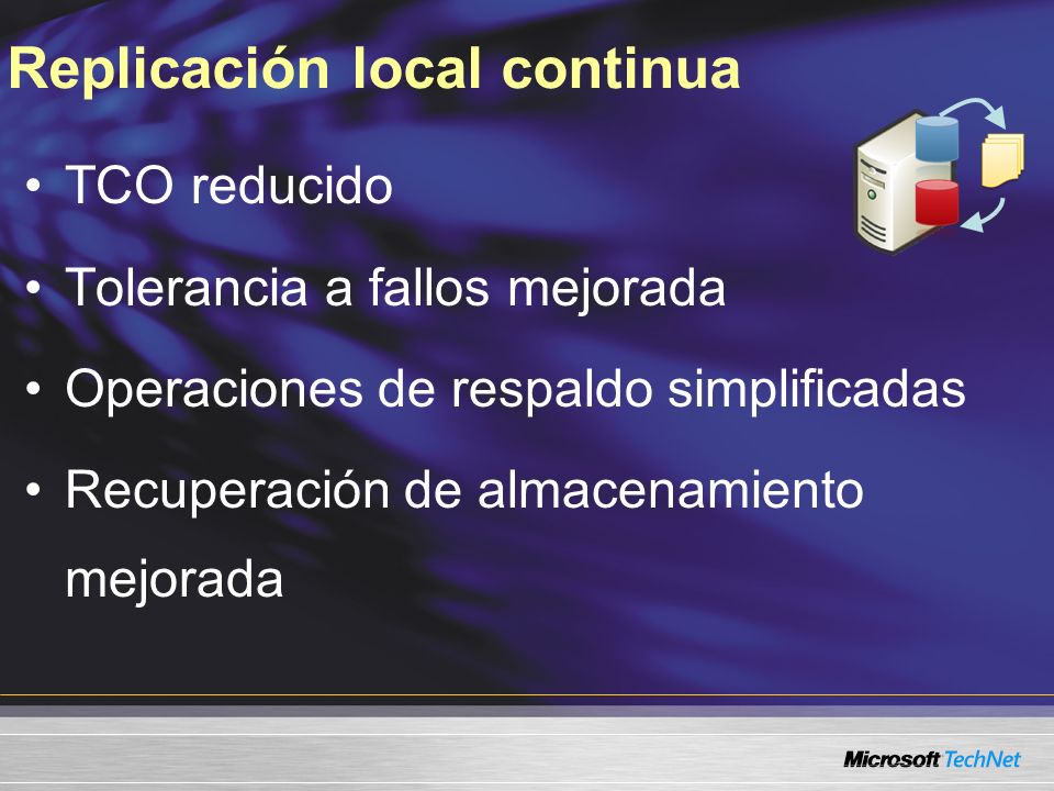Replicación local continua