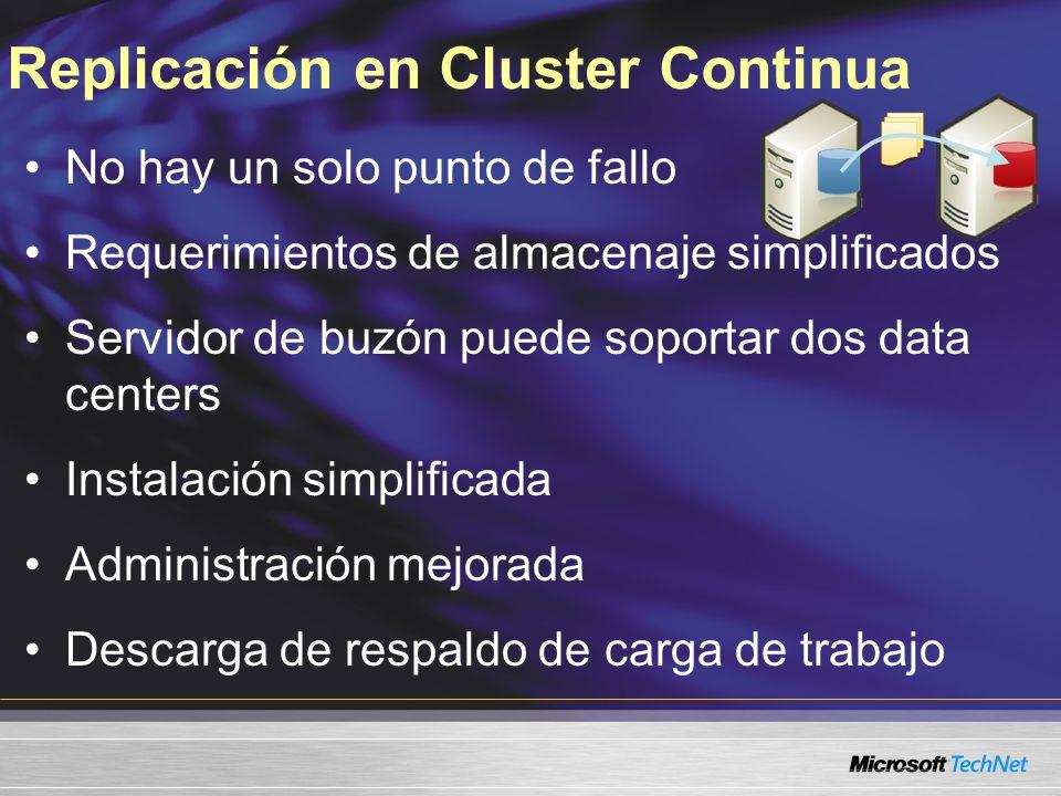 Replicación en Cluster Continua
