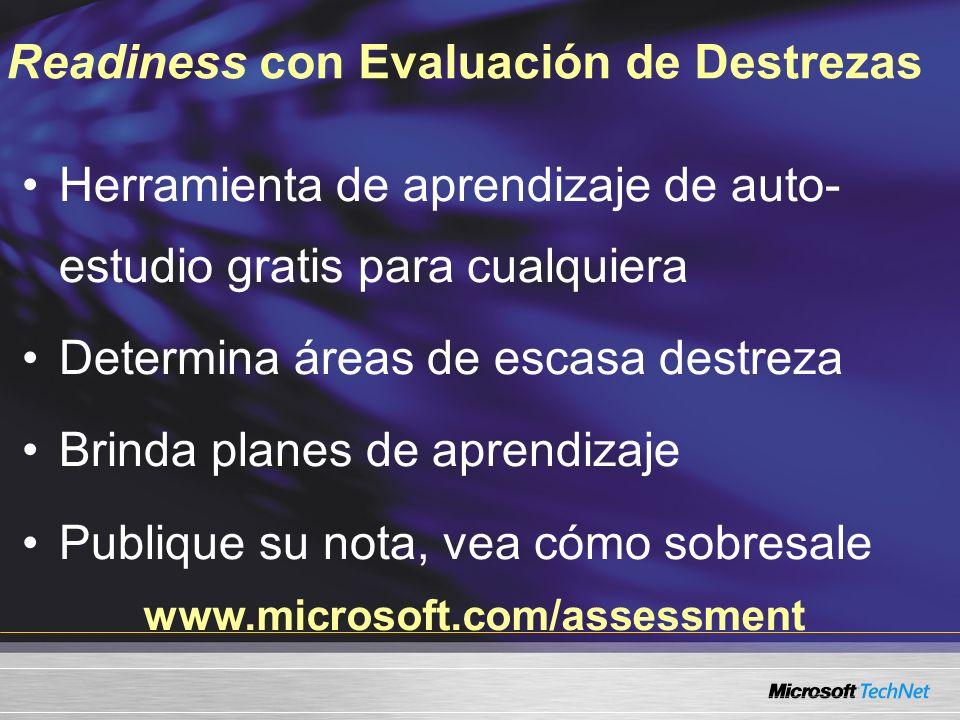 Readiness con Evaluación de Destrezas