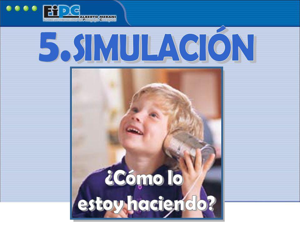 SIMULACIÓN 5. ¿Cómo lo estoy haciendo