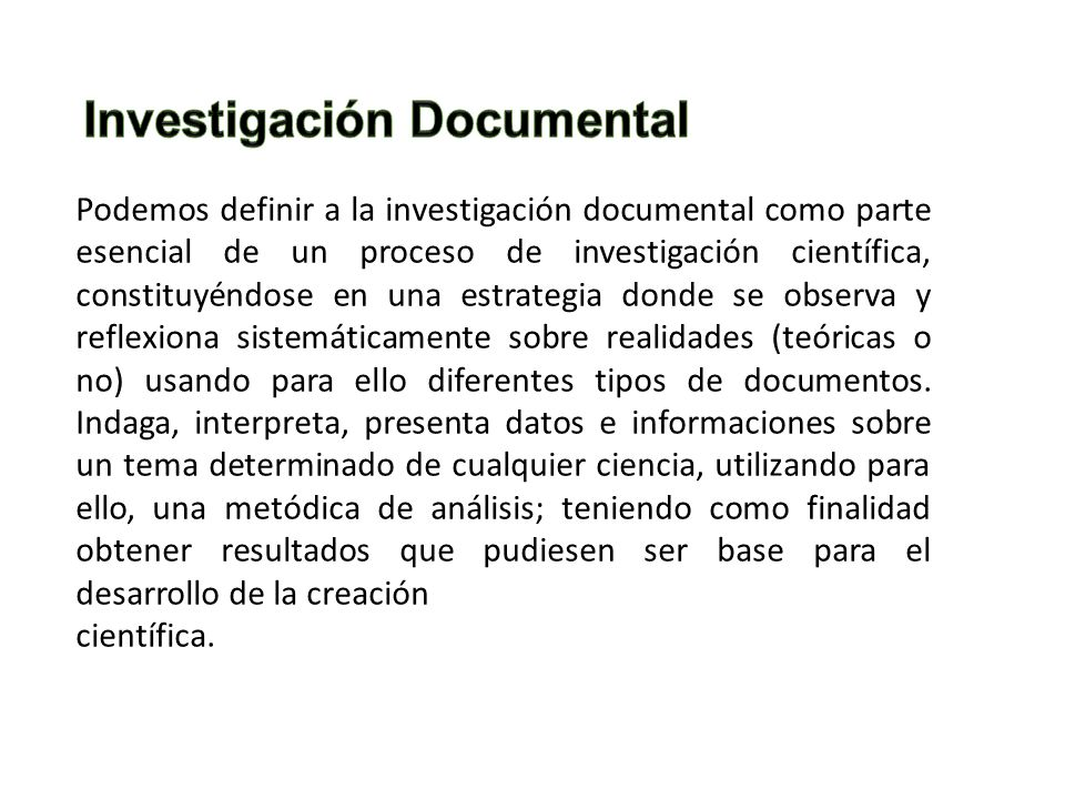 Investigación Documental