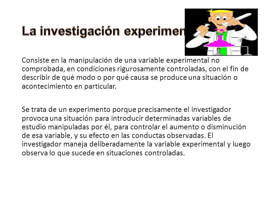 La investigación experimental