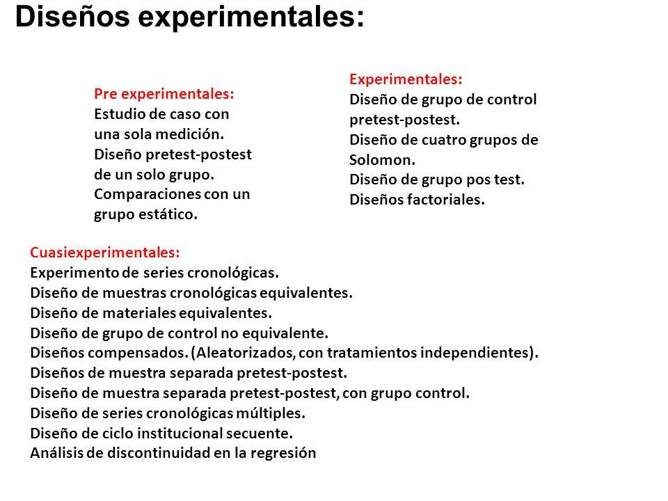 Diseños experimentales: