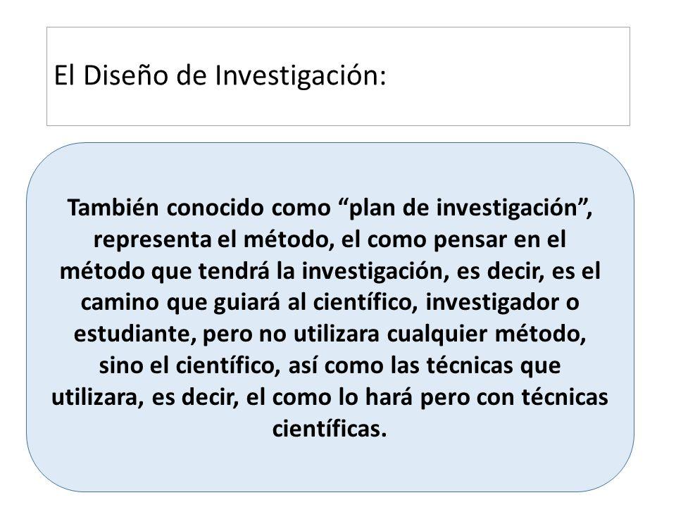 El Diseño de Investigación:
