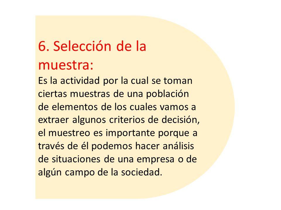 6. Selección de la muestra:
