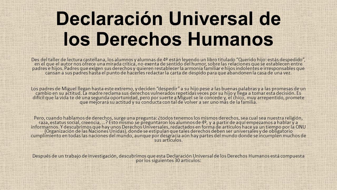 Declaraci n universal de los derechos humanos ppt descargar for Que es un articulo cultural o de espectaculos
