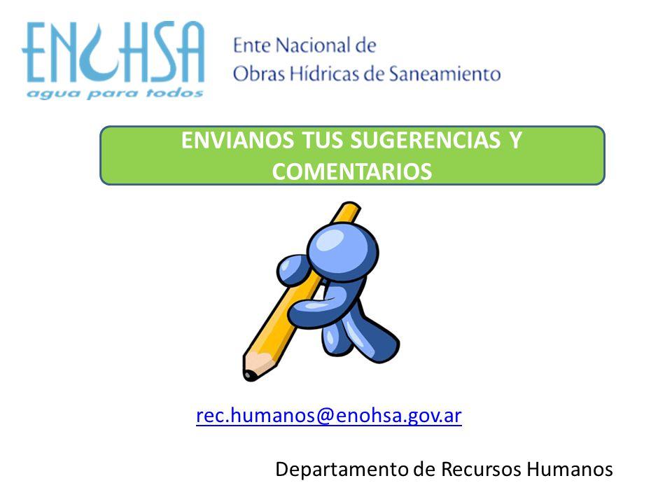rec.humanos@enohsa.gov.ar Departamento de Recursos Humanos