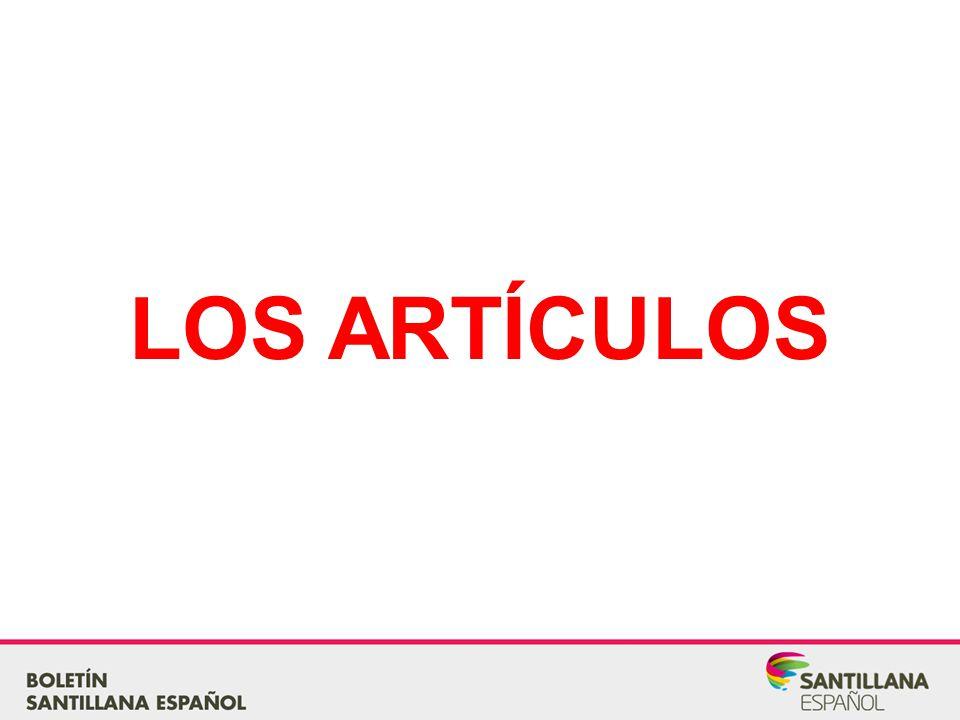 LOS ARTÍCULOS