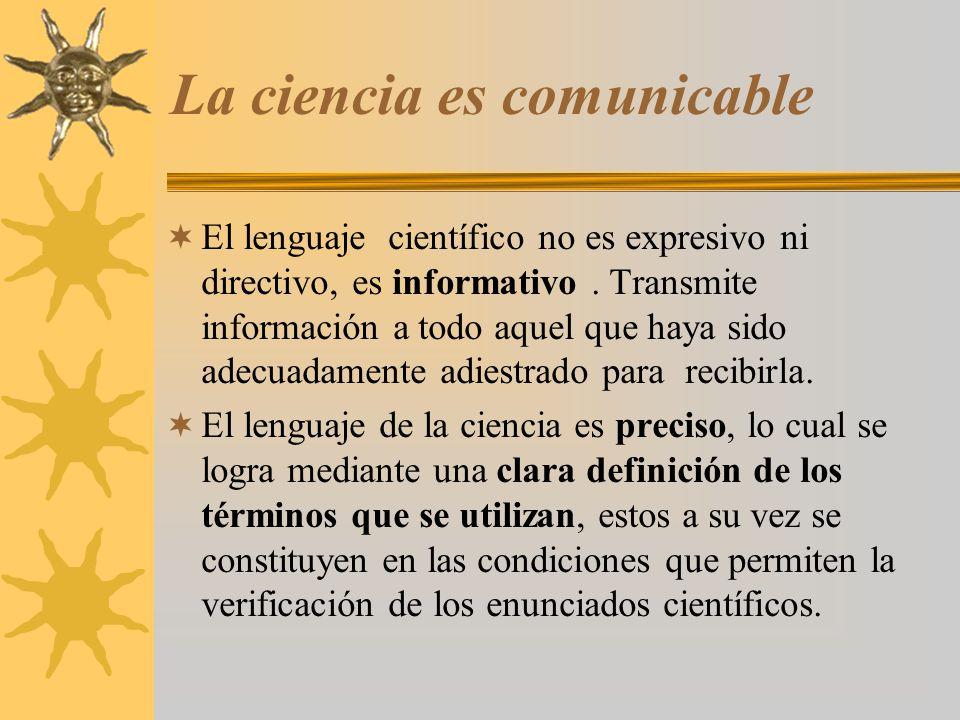 La ciencia es comunicable