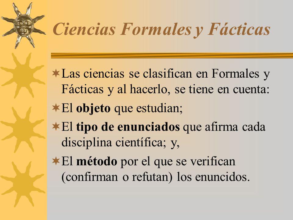 Ciencias Formales y Fácticas