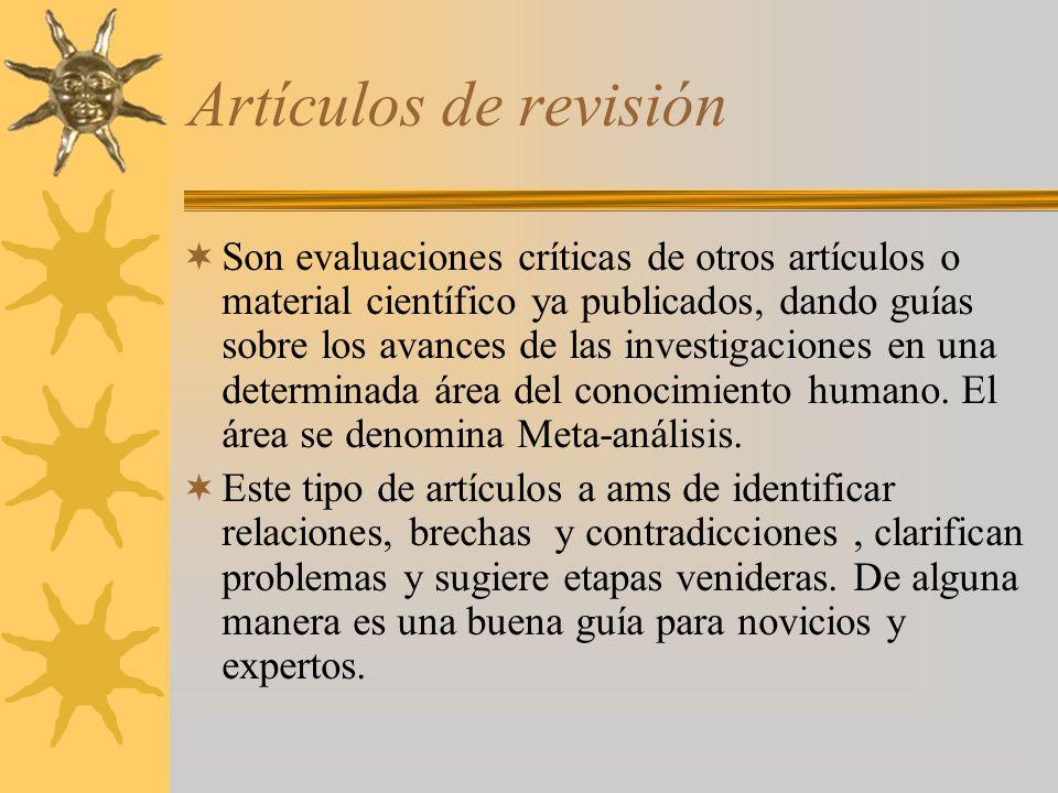 Artículos de revisión